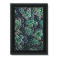 Close-Up Of Green Flowers Framed Eco-Canvas 24X36 Wall Decor