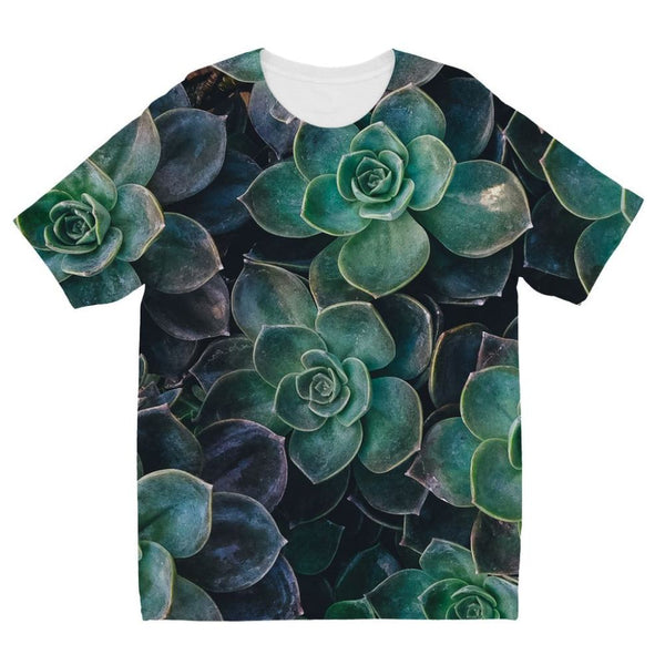 Close-Up Of Green Flowers Kids Sublimation T-Shirt 3-4 Years Apparel