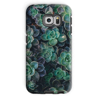 Close-Up Of Green Flowers Phone Case Galaxy S6 Edge / Tough Gloss & Tablet Cases
