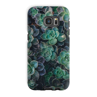 Close-Up Of Green Flowers Phone Case Galaxy S7 Edge / Tough Gloss & Tablet Cases
