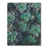 Close-Up Of Green Flowers Stretched Eco-Canvas 11X14 Wall Decor