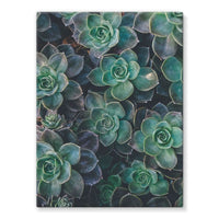 Close-Up Of Green Flowers Stretched Eco-Canvas 18X24 Wall Decor
