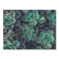Close-Up Of Green Flowers Stretched Eco-Canvas 24X18 Wall Decor