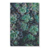 Close-Up Of Green Flowers Stretched Eco-Canvas 24X36 Wall Decor