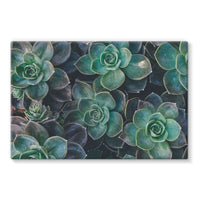 Close-Up Of Green Flowers Stretched Eco-Canvas 36X24 Wall Decor