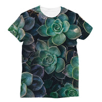Close-Up Of Green Flowers Sublimation T-Shirt Xs Apparel