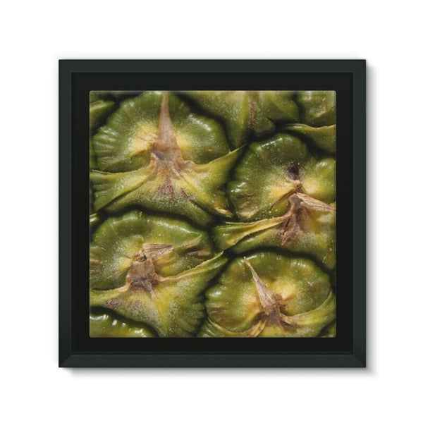 Closeup Of A Pineapple Skin Framed Eco-Canvas 10X10 Wall Decor