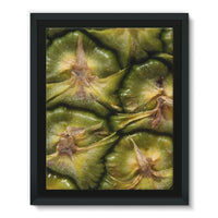 Closeup Of A Pineapple Skin Framed Eco-Canvas 11X14 Wall Decor