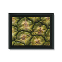 Closeup Of A Pineapple Skin Framed Eco-Canvas 24X18 Wall Decor