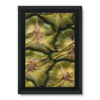 Closeup Of A Pineapple Skin Framed Eco-Canvas 24X36 Wall Decor