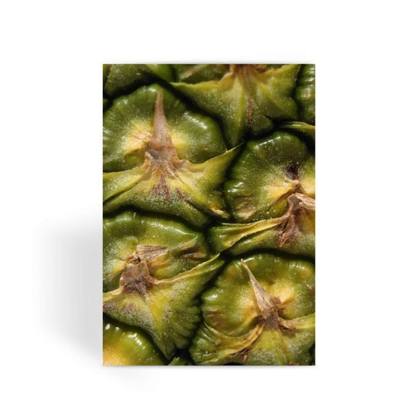 Closeup Of A Pineapple Skin Greeting Card 1 Prints