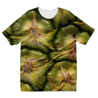 Closeup Of A Pineapple Skin Kids Sublimation T-Shirt 3-4 Years Apparel