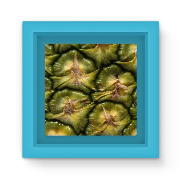Closeup Of A Pineapple Skin Magnet Frame Light Blue Homeware