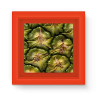 Closeup Of A Pineapple Skin Magnet Frame Red Homeware