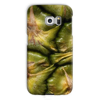 Closeup Of A Pineapple Skin Phone Case Galaxy S6 Edge / Snap Gloss & Tablet Cases