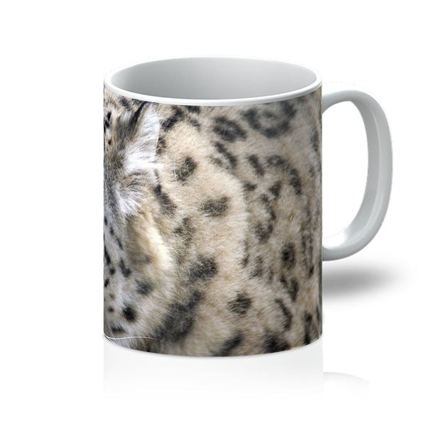 Closeup Of A Snow Leopard Mug 11Oz Homeware