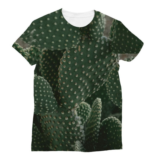 Closeup Of Cactus Sublimation T-Shirt Xs Apparel