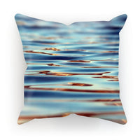 Closeup Of Waves In Water Cushion Faux Suede / 18X18 Homeware