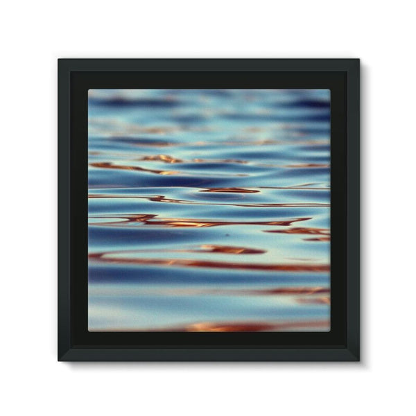 Closeup Of Waves In Water Framed Canvas 12X12 Wall Decor