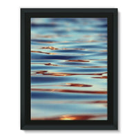 Closeup Of Waves In Water Framed Canvas 12X16 Wall Decor