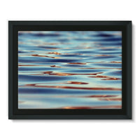 Closeup Of Waves In Water Framed Canvas 16X12 Wall Decor