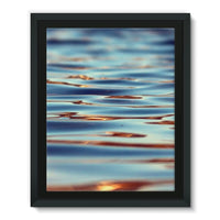 Closeup Of Waves In Water Framed Eco-Canvas 11X14 Wall Decor
