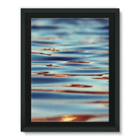 Closeup Of Waves In Water Framed Eco-Canvas 18X24 Wall Decor