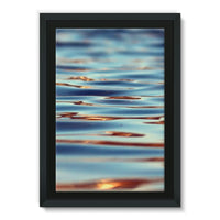 Closeup Of Waves In Water Framed Eco-Canvas 24X36 Wall Decor