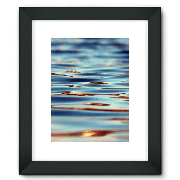 Closeup Of Waves In Water Framed Fine Art Print 12X16 / Black Wall Decor