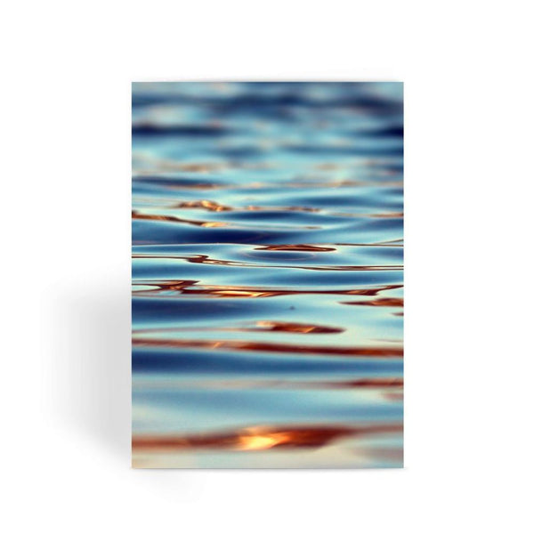 Closeup Of Waves In Water Greeting Card 1 Prints