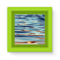 Closeup Of Waves In Water Magnet Frame Green Homeware