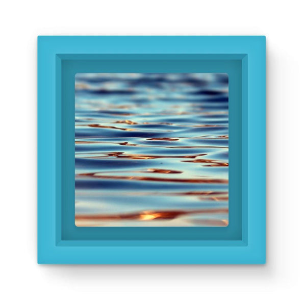 Closeup Of Waves In Water Magnet Frame Light Blue Homeware