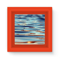 Closeup Of Waves In Water Magnet Frame Red Homeware