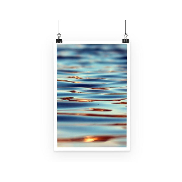 Closeup Of Waves In Water Poster A3 Wall Decor