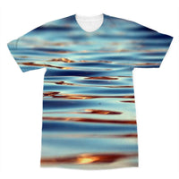 Closeup Of Waves In Water Sublimation T-Shirt Xs Apparel