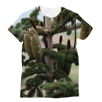 Closeup Picture A Pine Tree Sublimation T-Shirt Xs Apparel