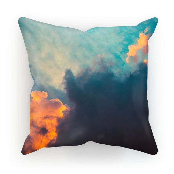 Clouds And Risining Sun Cushion Linen / 12X12 Homeware