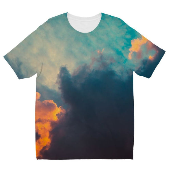 Clouds And Risining Sun Kids Sublimation T-Shirt 3-4 Years Apparel