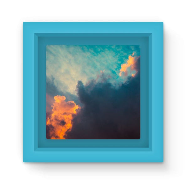 Clouds And Risining Sun Magnet Frame Light Blue Homeware
