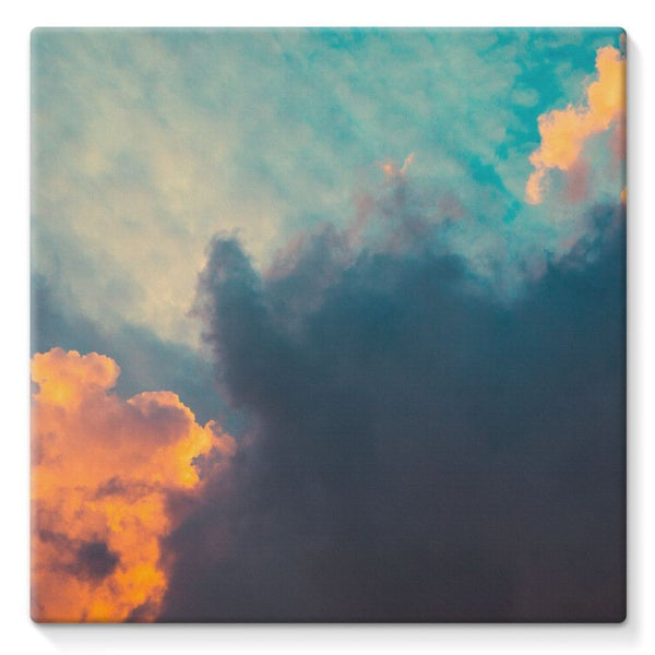 Clouds And Risining Sun Stretched Canvas 10X10 Wall Decor
