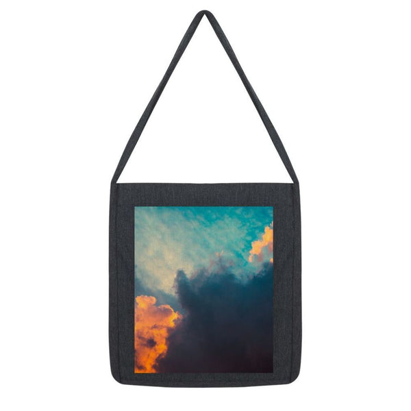 Clouds And Risining Sun Tote Bag Melange Black Accessories