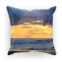 Cloudy Sunset On Sea Shore Cushion Canvas / 12X12 Homeware