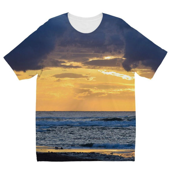 Cloudy Sunset On Sea Shore Kids Sublimation T-Shirt 3-4 Years Apparel