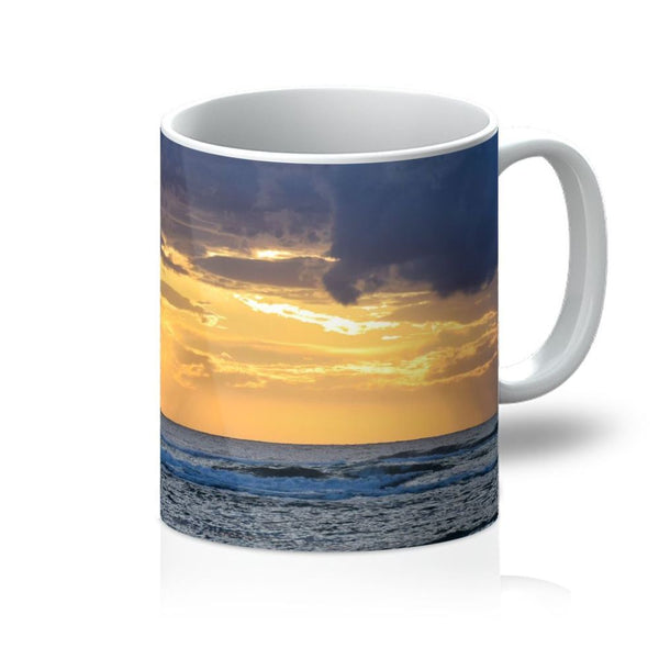 Cloudy Sunset On Sea Shore Mug 11Oz Homeware