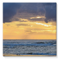 Cloudy Sunset On Sea Shore Stretched Canvas 14X14 Wall Decor