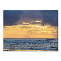 Cloudy Sunset On Sea Shore Stretched Canvas 16X12 Wall Decor
