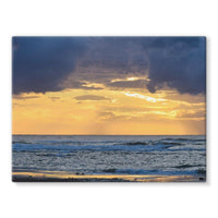 Cloudy Sunset On Sea Shore Stretched Canvas 24X18 Wall Decor