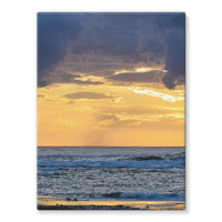 Cloudy Sunset On Sea Shore Stretched Canvas 24X32 Wall Decor