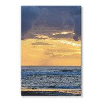 Cloudy Sunset On Sea Shore Stretched Canvas 24X36 Wall Decor