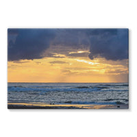 Cloudy Sunset On Sea Shore Stretched Canvas 36X24 Wall Decor